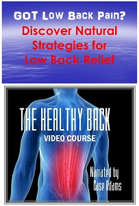 low back pain using natural methods